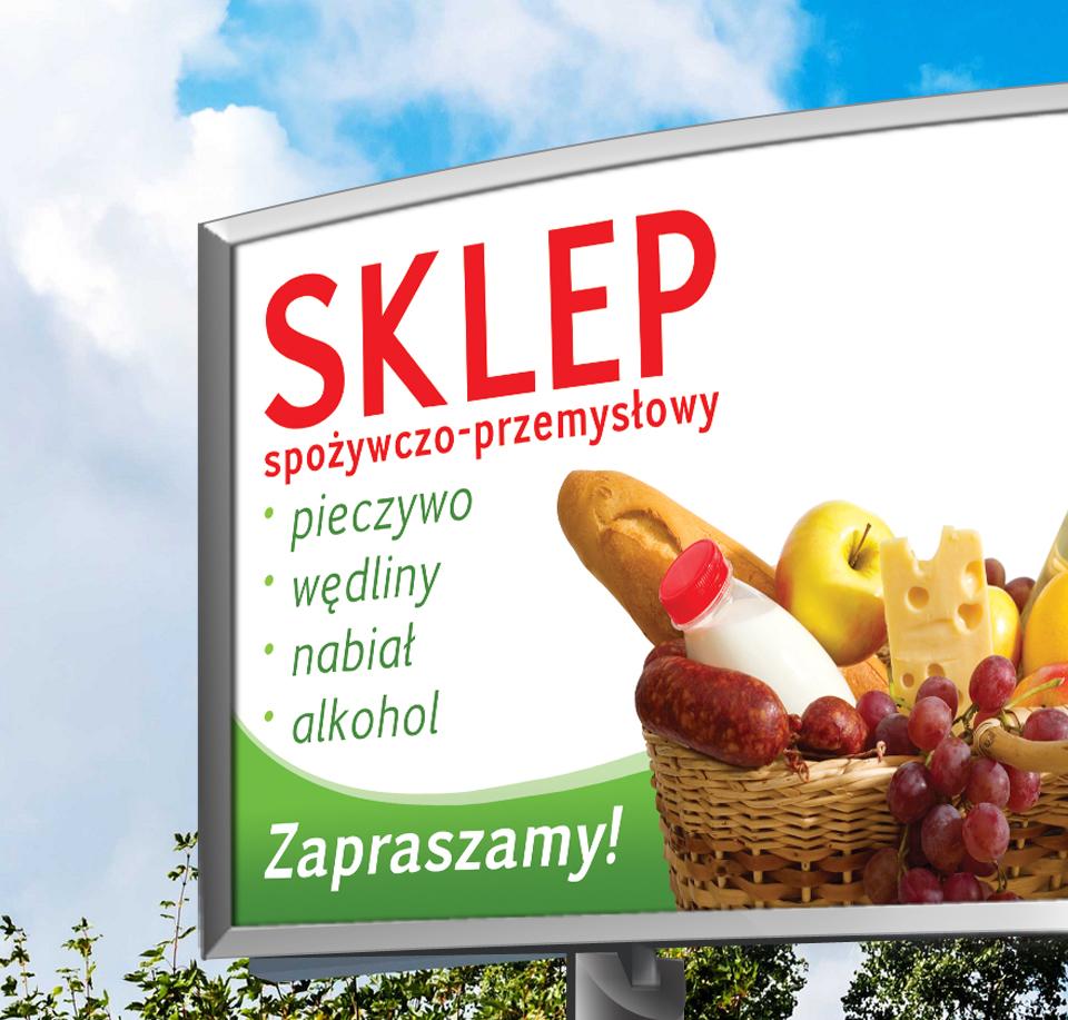 Inne rodzaje Projekt reklamy wielkoformatowej, baner wykonany dla Sklepu HB24